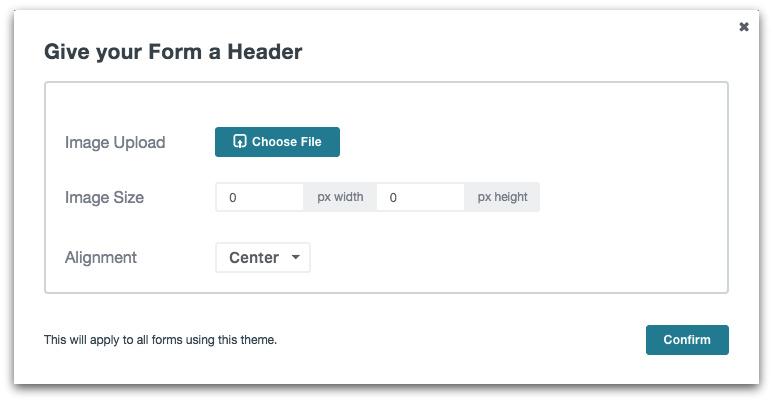 Formstack Theme Editor - Add a Logo