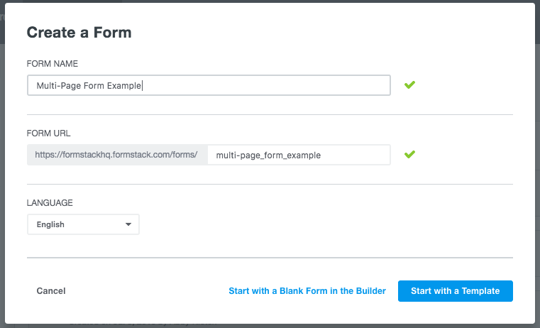 Creating online forms