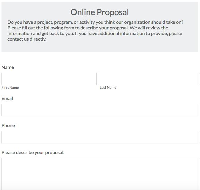IT proposal form