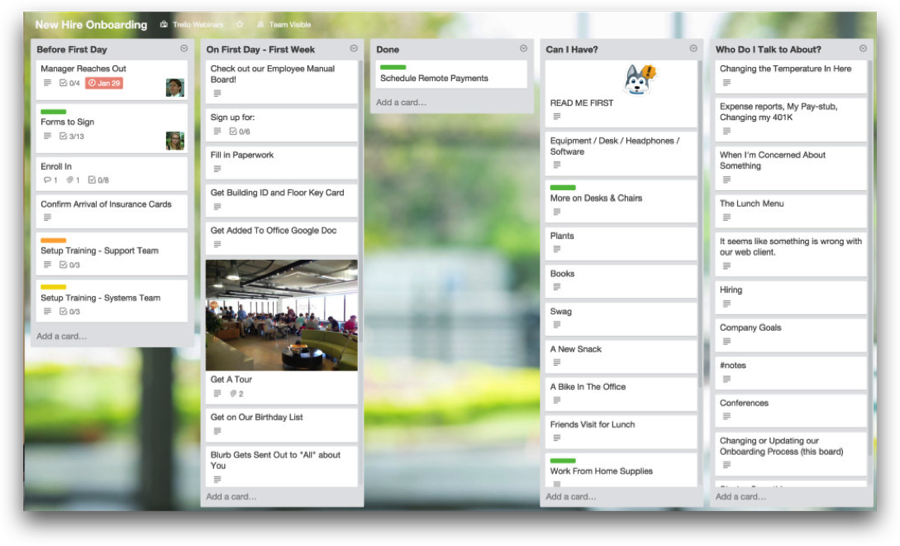 Trello for Onboarding