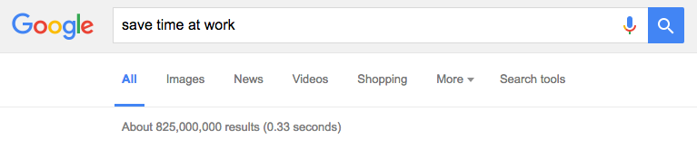 Google Results: Save Time at Work