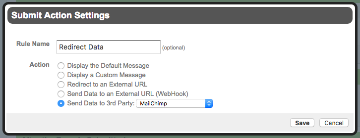 Formstack Redirect Submitted Data