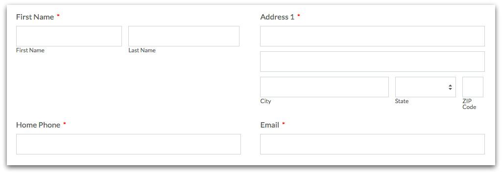 Uneven Online Form Columns