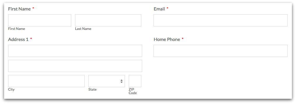 Even Online Form Columns