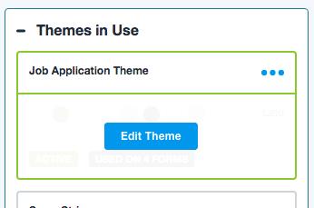 Edit Form Themes