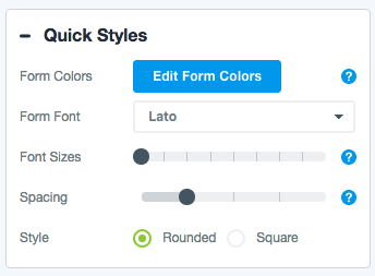 Quick Styles for Form Themes