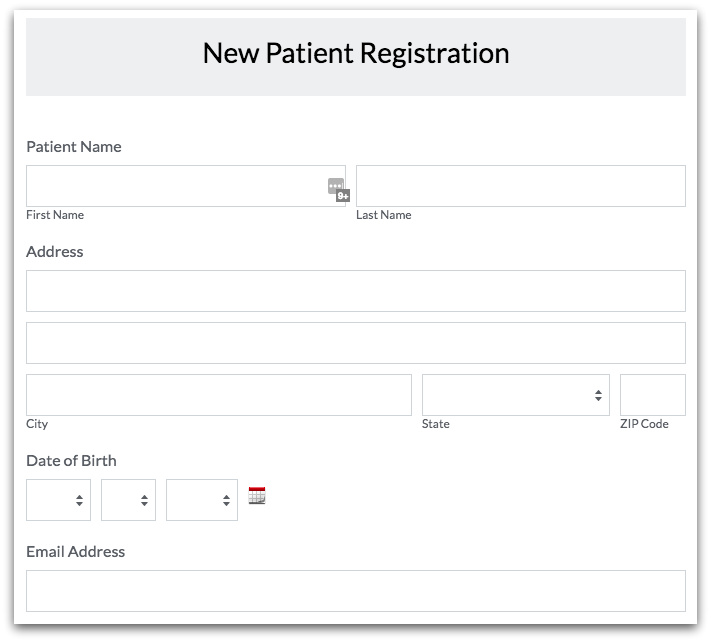 Healthcare Forms: Online Patient Registration