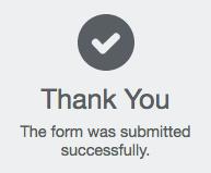 thank you checkmark icon