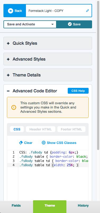 Form CSS