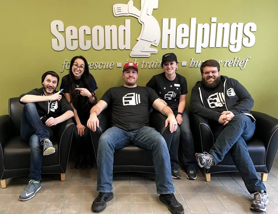 Five Indy-based Formstackers spent an afternoon at Second Helpings!