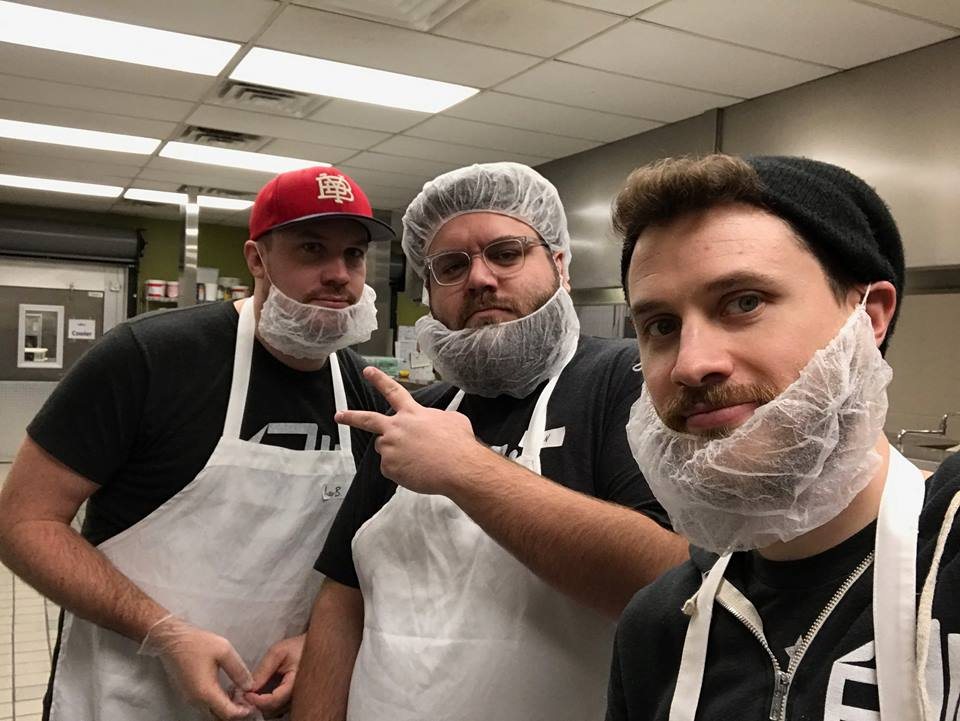 These three are keeping their beards in check as they help out at Second Helpings in Indy!