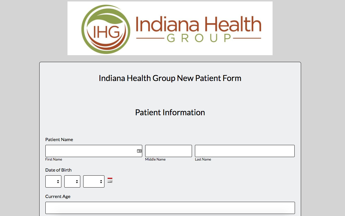 IHG Patient Registration Form