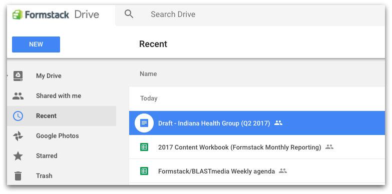 Remote Collaboration Tool: Google Drive