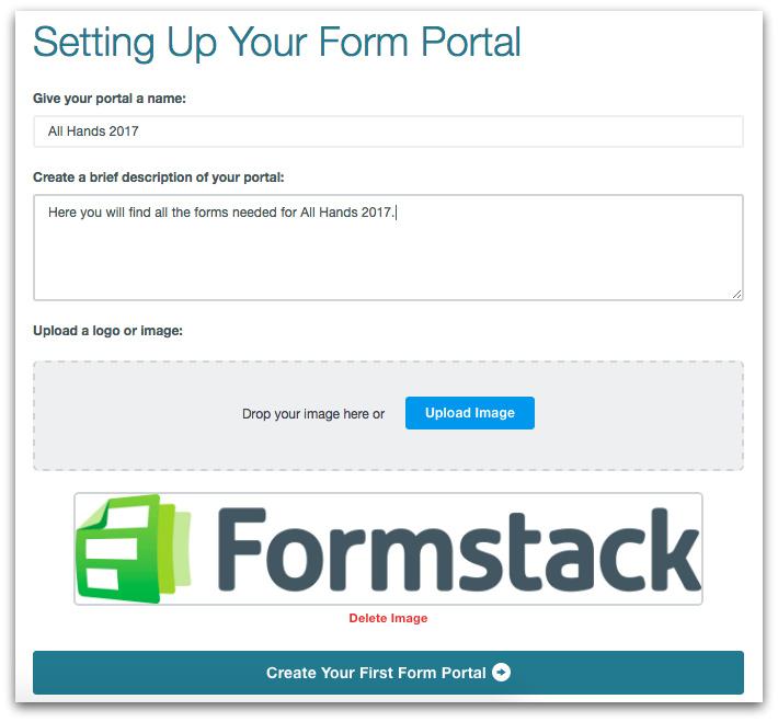Formstack Web Portal Setup