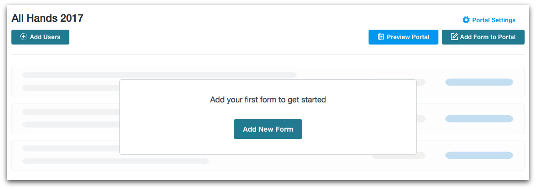 Formstack Web Portal Forms