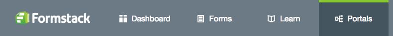 Formstack Web Portal Tab
