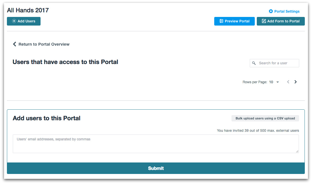 Formstack Web Portal Users