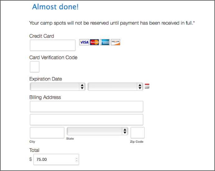 One Payment Option