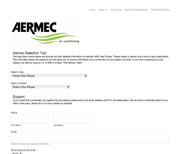 Aermec form after