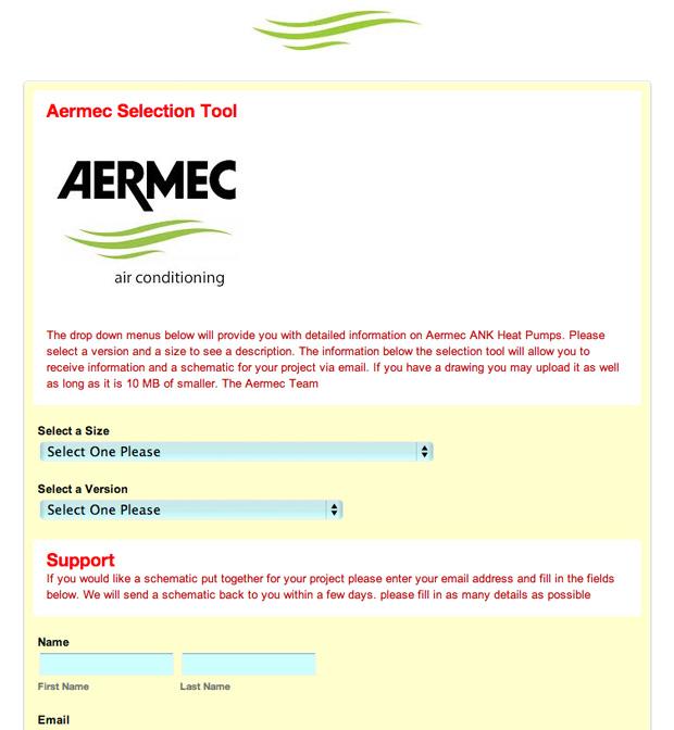 Aermec form before