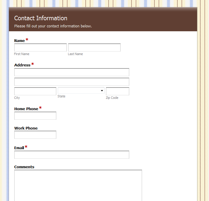 Online Contact Forms from Formstack