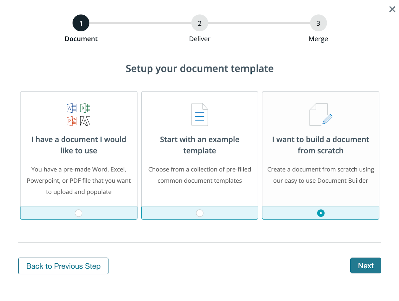 Setup your document template screenshot