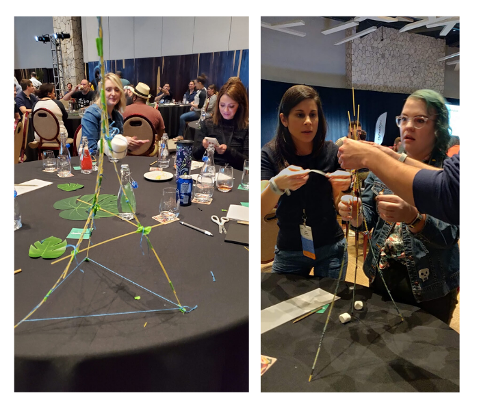 Teambuilding activity at Formstack Converge 2020