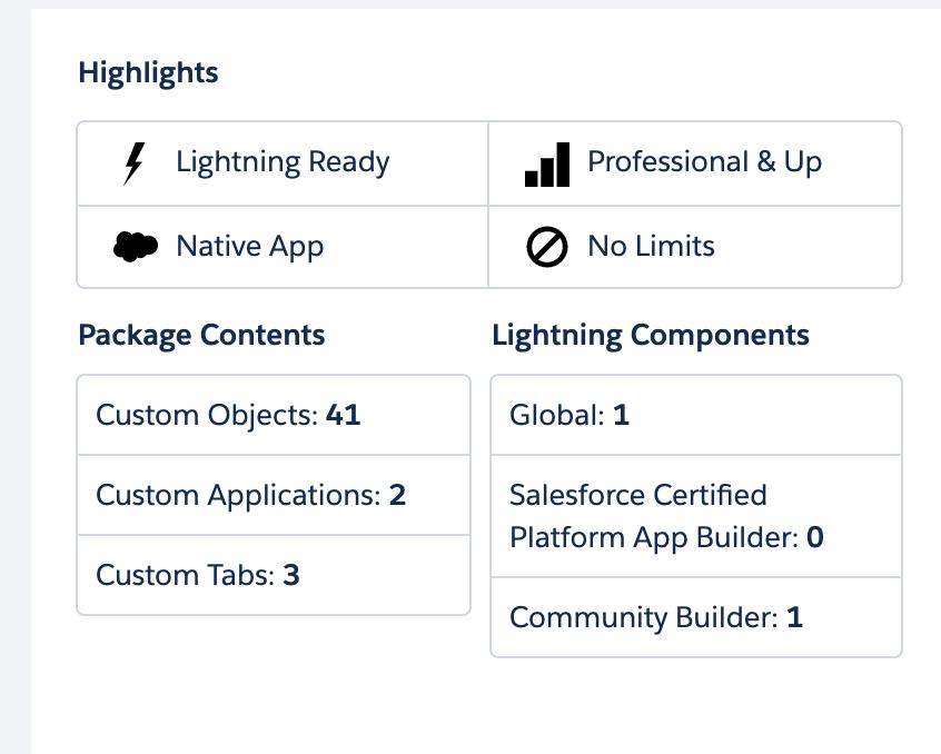 Formstack Salesforce App listing highlights