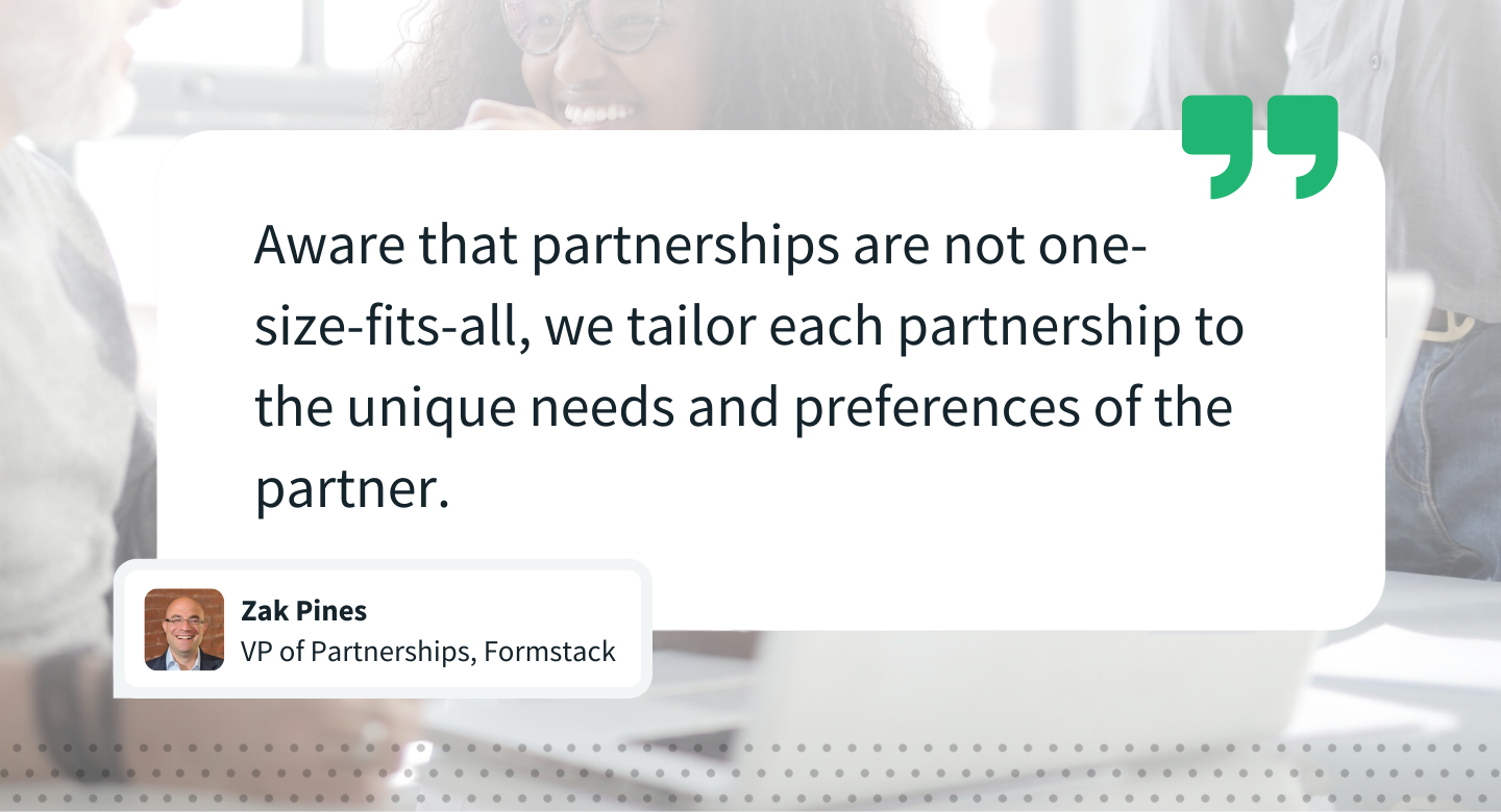 Quote by Zak Pines, VP of Partnerships, Formstack