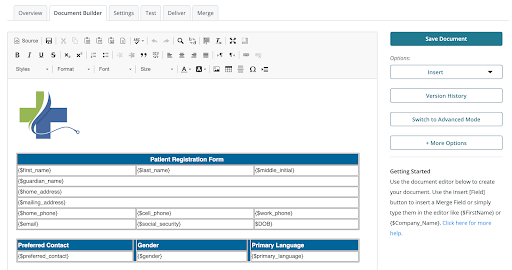 Formstack Documents Template Screenshot