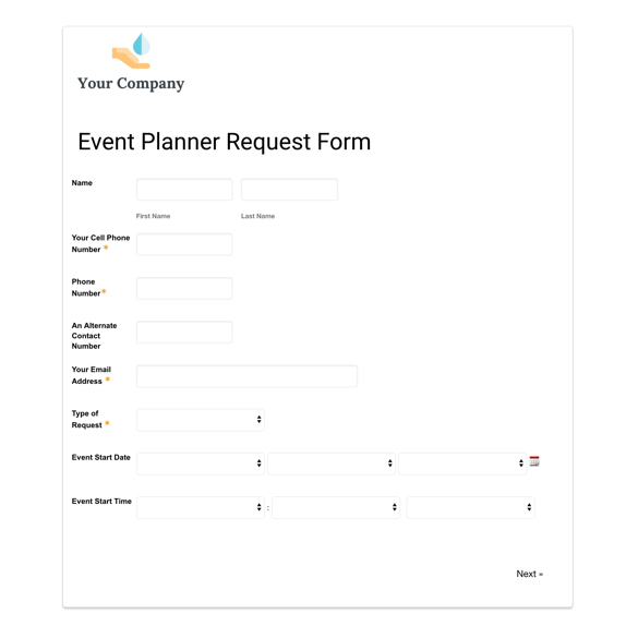 Wedding And Event Planner Form Template Formstack Forms