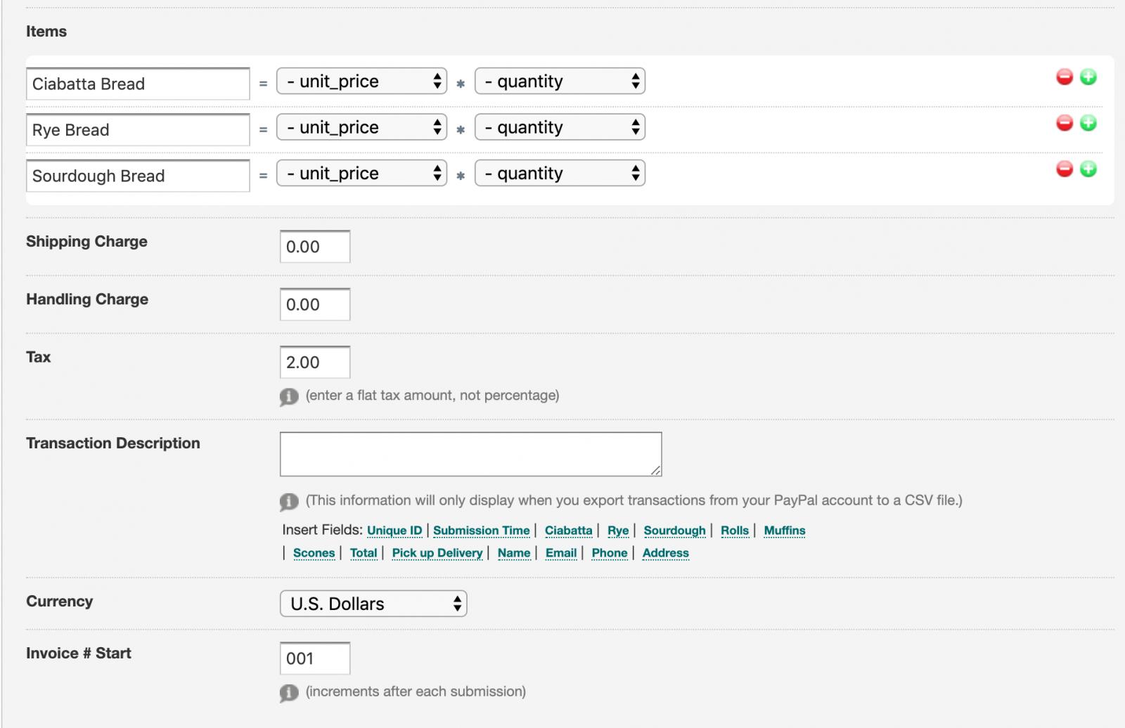 Formstack calculation product screenshot