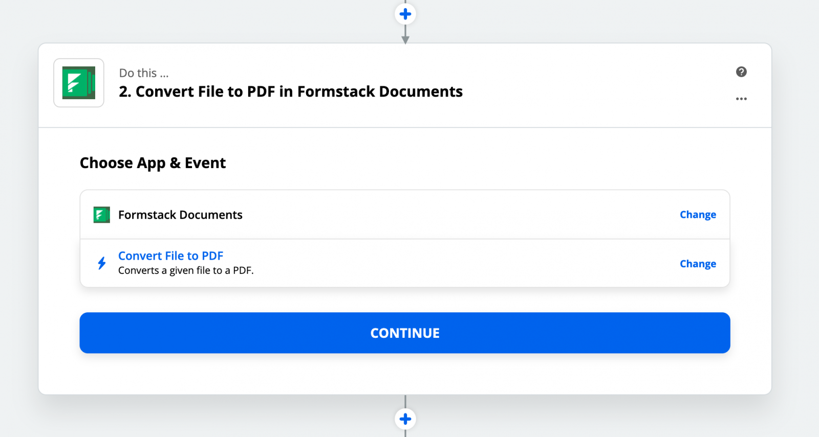 Formstack Documents Zap Product Screenshot