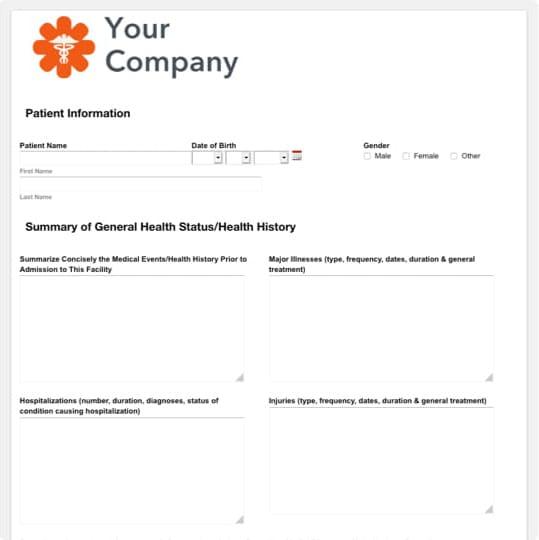 Head To Toe Nursing Assessment Form