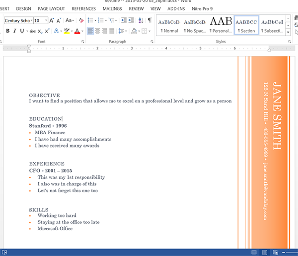 Populated Word Document Using HTML Form Data