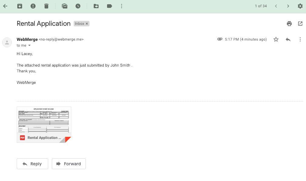 webmerge email