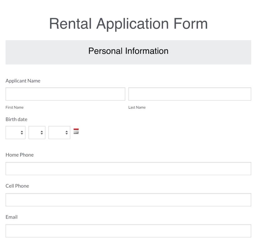 Rental Applicatio