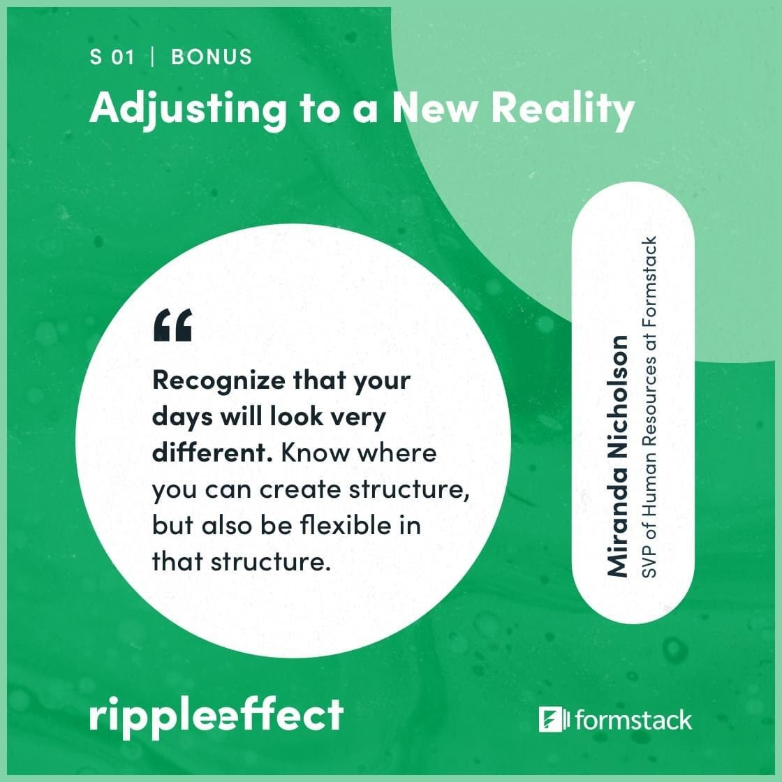 Ripple Effect episode Adjusting to a New Reality