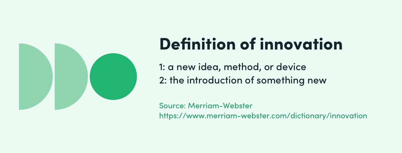 definition of innovation