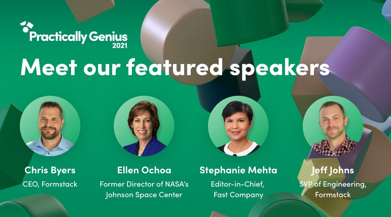 Practically Genius 2021 featured speakers
