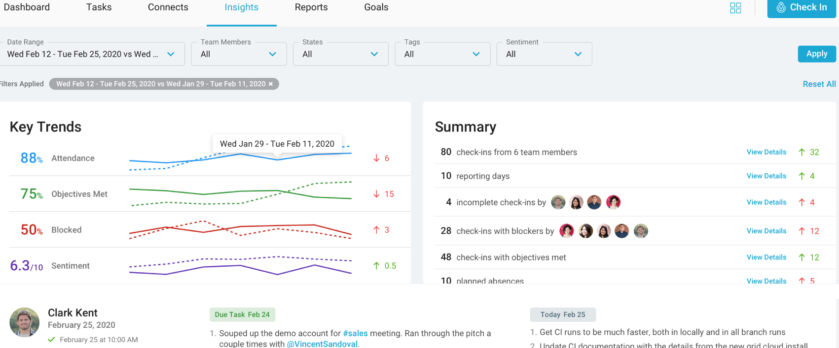 remote team management tool-Insights