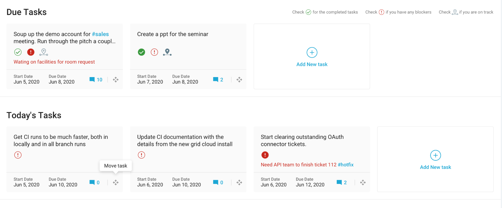 remote team management tool-Seamless Check-Ins