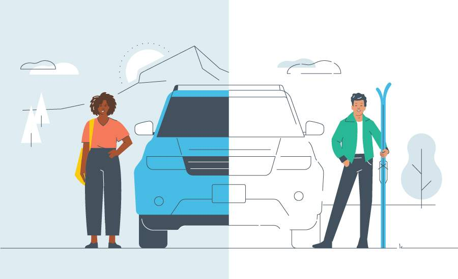 car sharing vs. car rental