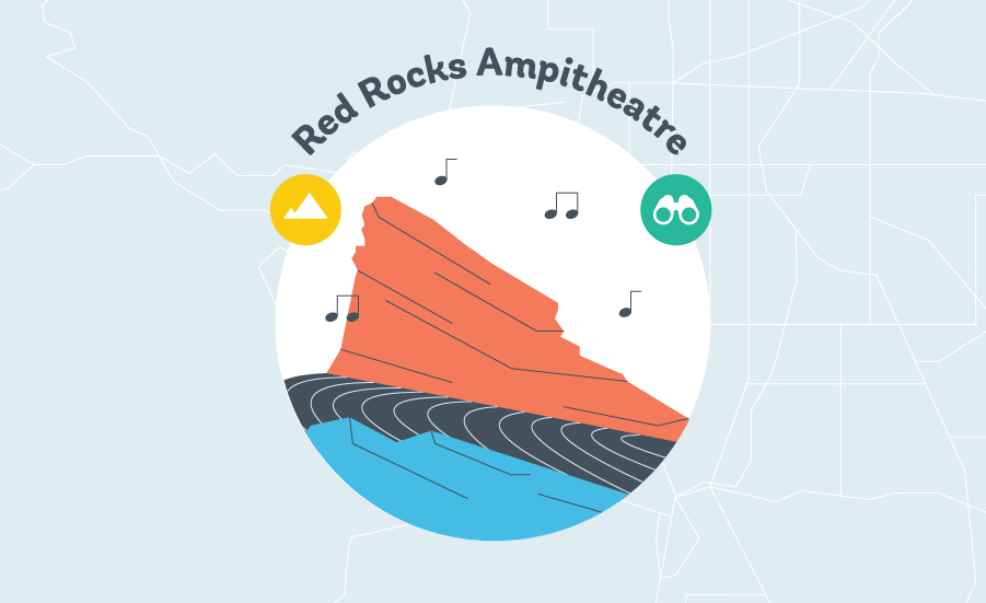 red rocks amphitheater graphic