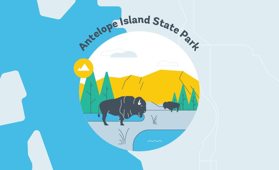 Antelope Island State Park Grapic