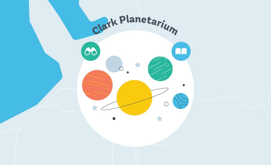 Clark Planetarium Graphic