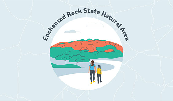 enchanted rock state natural area graphic