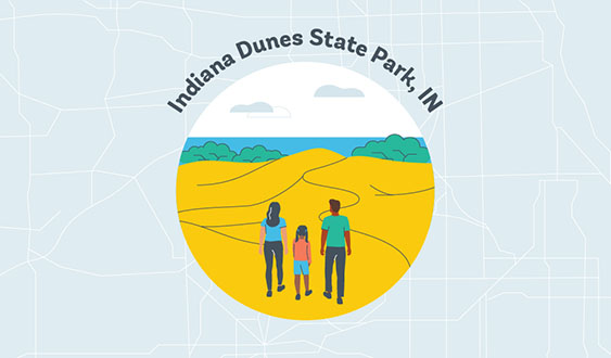 indiana dunes state park in graphic