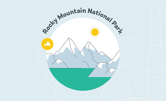 rocky mountain national park graphic