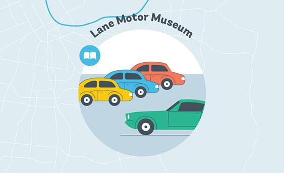lane motor museum graphic